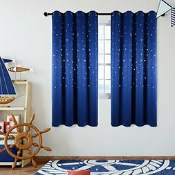 Star Wars Themed Kids Room Blackout Curtains, Kotile 2 Panel