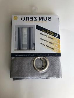 Sun Zero Blackout Thermal Lined Panel, Curtian, Grey, 54x84