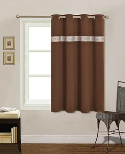 """SWEET DREAM Thermal Insulated Blackout Panel Curtain 52x63"""""""