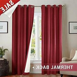 jinchan Thermal Blackout Curtains for Bedroom, Living Room