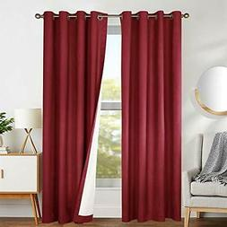 jinchan Thermal Blackout Curtains for Bedroom, Living Room W