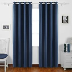 Thermal Insualted Blackout Light Blocking Curtains for Bedro
