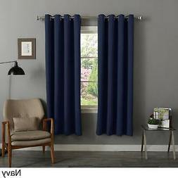 Aurora Home Thermal Insulated 72-inch Blackout Curtain - Nav