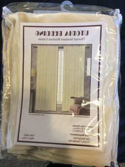 Thermal Insulated Blackout Curtain - 2 Panels 52Wx63L  by Ut