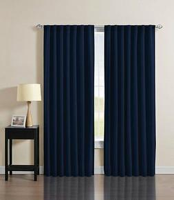Best Home Fashion Thermal Insulated Blackout Curtain Navy 52