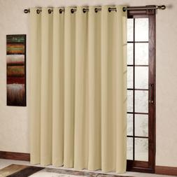Thermal Insulated Blackout Curtain Panel Sliding Glass Patio