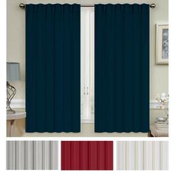 thermal insulated blackout curtains 2 panel 52