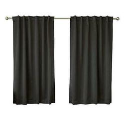 thermal insulated blackout curtains back