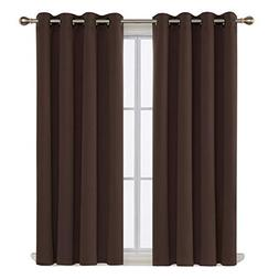 Deconovo Thermal Insulated Blackout Curtains Grommet Curtain