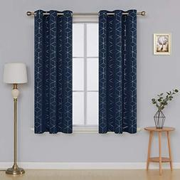 Deconovo Thermal Insulated Blackout Curtains Grommet Sliver