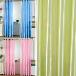 Thermal Insulated Blackout Curtains Grommet Window Solid Cur