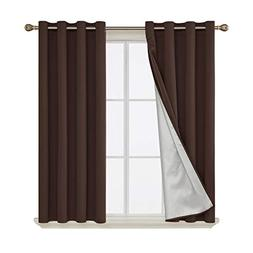 Deconovo Thermal Insulated Blackout Curtains with Silver Lin
