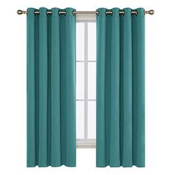 Deconovo Thermal Insulated Blackout Curtains 2 Panels Room D