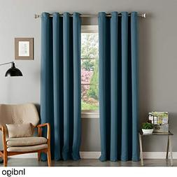 Aurora Home Thermal Insulated Blackout Grommet Top Curtain P