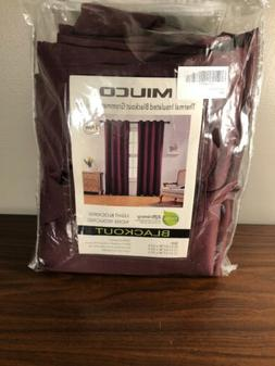 Miuco Thermal Insulated Blackout Grommet Panel Pair Burgundy
