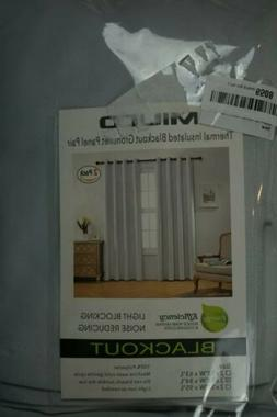 """Miuco Thermal Insulated Blackout Grommet Panel Pair Gray 52"""""""