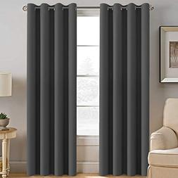 Blackout Curtains for Bedroom Thermal Insulated Curtains Bla