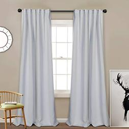 MYSKY HOME Thermal Insulated Curtain Drapes Back Tab and Rod
