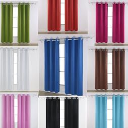 "Thermal Insulated Curtains Window 63 84"" Blackout Living Roo"
