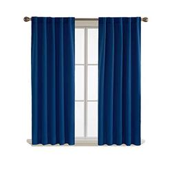 Deconovo Blackout Curtains Back Tab and Rod Pocket Curtains