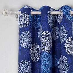 Deconovo Thermal Insulated Grommet Blackout Curtains for Bed
