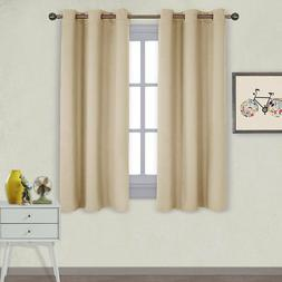 Nicetown Thermal Insulated Grommet Blackout Curtains Draperi