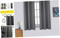 Thermal Insulated Grommet Blackout Curtains for Bedroom (2 P