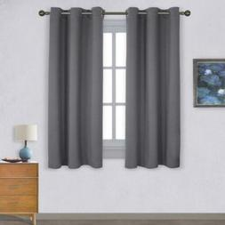 NICETOWN Thermal Insulated Grommet Blackout Curtains for W42