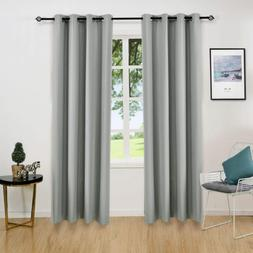 ALLBRIGHT Thermal Insulated Grommet Blackout Curtains for Be