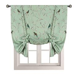 Thermal Insulated Printed Blackout Small Window Curtain Adju