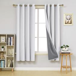 Deconovo Total Blackout Curtain 72 inch Long Thermal Insulat