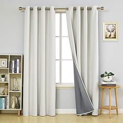 Deconovo Total Blackout Curtain Panels Light Blocking Curtai