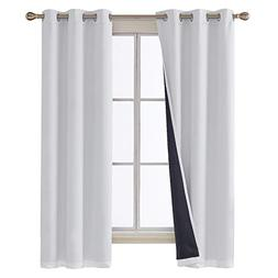 Deconovo Total Blackout Curtains Thermal Insulted Faux Silk