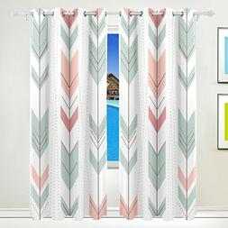 Aideess Tribal Arrows Boho Blackout Curtains Darkening Therm