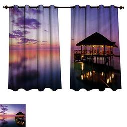 RuppertTextile Tropical Blackout Curtains Panels for Bedroom