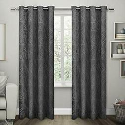 Exclusive Home Twig Insulated Blackout Grommet Top Curtain P