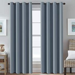 Blackout Curtains for Bedroom 84 Inches Blue Thermal Insulat