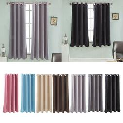 Ultra Soft Thermal Insulated Blackout Window Curtains Noise
