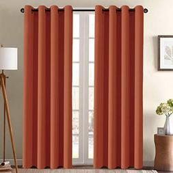 Ultra Soft Blackout Curtains for Bedroom 84 Inches Long Ther