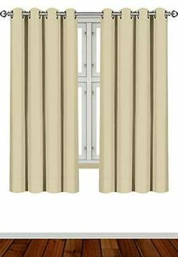 Utopia Grommet Thermal Insulated Blackout Curtains, 2 Panels