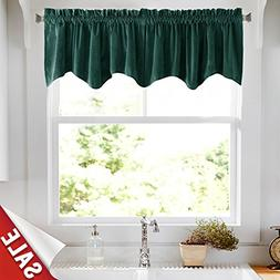 jinchan Velvet Curtains Half Blackout Weave-Shape Valance, R