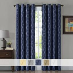 Victoria Jacquard Blackout Curtains, 2 Panels Thermal Insula