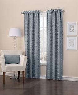 Sun Zero Viviana Woven Trellis Thermal Lined Curtain Panel,