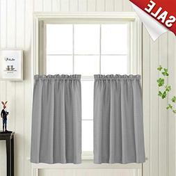 Waffle Woven Half Window Curtains for Bathroom Waterproof Ki