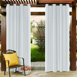 Waterproof Outdoor Curtain Blackout Window Porch Patio Therm