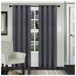 waverly gray embossed wave blackout insulated grommet