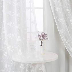 White Curtains for Living Room 84 inch Room Darkening Mix &