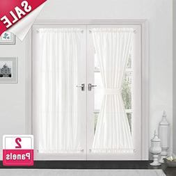 Privacy French Door Panels White Curtains for French Doors F