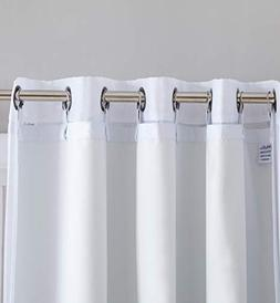 HLC.ME White Thermal Insulated 100% Blackout Curtain Liner 8