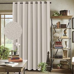 Room Darkening Linen Curtain for Sliding Door  Energy Saving